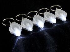 10pcs Mini LED Light Keychain Key Ring Super Flash Bright Flashlight Lamp White