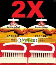 2X kiwi suede nubuck care kit eraser bar and brush to clean 20-900