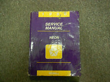 1996 DODGE PLYMOUTH NEON Service Repair Shop Manual OEM 96 DEALERSHIP BOOK