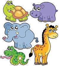 Stickers enfant Animaux de la jungle: 1 Planche 30x30cm réf 2522