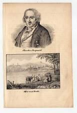 Budapest-Four-Peste-Joseph - Marie Jacquard-Portrait-Lithographie 1840 RARE