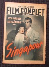 1948 FILM COMPLET French Movie Magazine #114 VG- Ava Gardner Fred MacMurray 8pgs