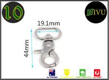 10 pcs Metal Swivel Clips Snap Hook Spring Trigger 44mm webbing for Dog, Pets,