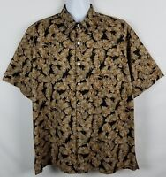 Tori Richard Hawaiian Shirt Mens L Short Sleeve Button Front Cotton Lawn Floral