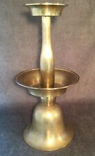 Vintage Large Brass Standing Church Altar Candlestick Holder