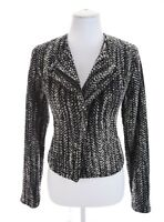 NWT CAbi Full Zip Boucle Tweed NEW Wool Bld Moto Blazer Jacket Black Womens Sz 4