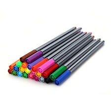 24 Fineliner Pens Color Fineliners Set Markers Art Painting Good Quality  LE