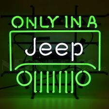 Neon sign Only in a Jeep Willys Licensed by Jeep Detroit Ul garage lamp light