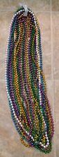 Lot of 7 Dozen Long Madri Gras Beads 2' Long