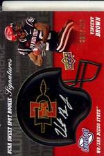 vincent brown rookie rc draft auto helmet patch san diego state sdsu college 599