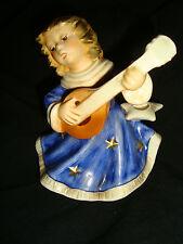 Original Goebel Engel mit Mandoline limitiert blau mit Kerzenhalter12 cm
