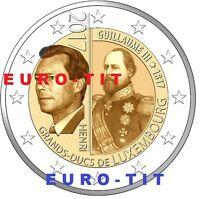 2 €  LUXEMBOURG  1  X PIECE  NEUVE   2017  NOUVEAU  GUILLAUME  III    disponible