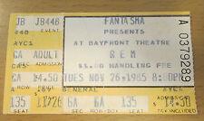 1985 R.E.M. Rem Minutemen St. Pete Florida Concert Ticket Stub D. Boon Mike Watt