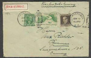 LuPo-Brief Panama Kanalzone Cristobal nach Bremen 1938