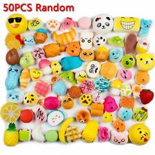 50Pcs Jumbo Medium Mini Random Soft Panda/Bread/Cake/Buns Phone Straps