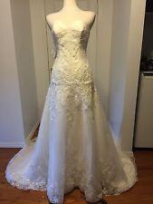 NWT Matthew Christopher A-Line Sweetheart Neckline Ivory Wedding Dress Sz 8