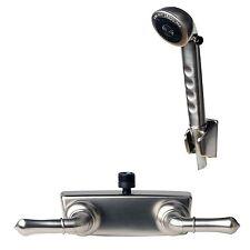 RV/Motorhome Shower Faucet Valve Diverter with Hand Held Shower Brushed Nickel