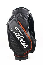 "NEW Titleist Midsize Staff Bag 9"" x 7"" 6-Way Felt Top Match Rain Hood 11 Pockets"