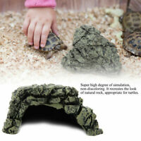 NEW Reptiles Resin Reptile Rock Hide Habitat Cave Hiding Spot Turtles Fish S/M/L