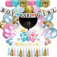 Gender Reveal Party Supplies (109 Pieces) Balloons, Lanterns, Pom Poms and More!