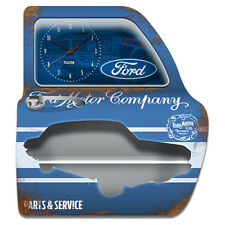 Ford metal wall shelf with LED and clock - Wall mountable