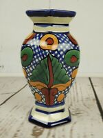 Handcrafted Garay Talavera Mexican Pottery Lead Free 6.5 Inch Flower Vase