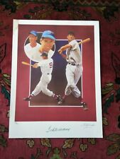 Ted Williams and Artist Signed Lithograph Autographed  60/406 Limited Edition