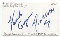 Daniel Guzman Signed 3x5 Index Card Autographed Signature Actor Film Director