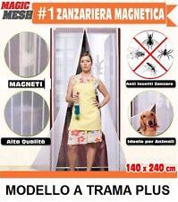 ZANZARIERA MAGNETICA PORTA FINESTRA CHIUSURA MAGNETI CALAMITA 240X140 PLUS