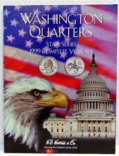 Washington Quarters State Series 1999 Complete Year Set Empty Folder