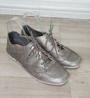 Clarks Artisan UK 4.5 Trigenic Silver Pewter Lace Up Trainers Casual Shoes