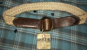 2008 Collection RRL Ralph Lauren Double RL Vintage Braided &  Leather Belt 30