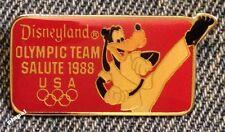 Goofy Disney Pin~Retired~Disneyland Team Salute~Taekwondo~Olympic Seoul~1988