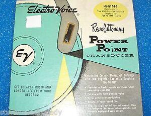 Electro-Voice EV 53-3 Zenith 142-80 87 cartridge needle for Astatic 93T3 78 RPM