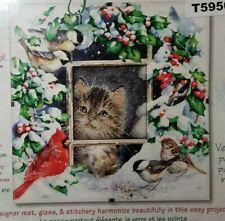 Dimensions Daydreams Counted Cross Stitch Kit Winter Kitten Glass Matt Included
