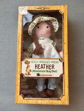 "Vintage Knickerbocker 1974 Holly Hobbie Friend Heather Cloth 9"" Rag Doll Mib"