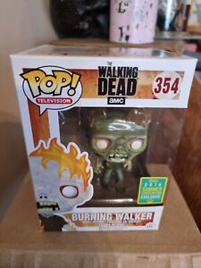 The Walking Dead Burning Walker 354 - Summer Convention - Funko Pop Vinyl Figure