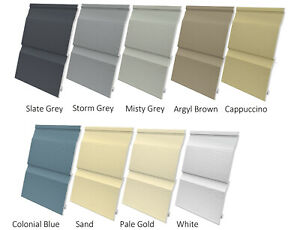 Fortex External Double Embossed Cladding 333mm x 5m Various Colours