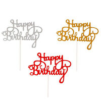 10 PCS GLITTER PAPER,HAPPY BIRTHDAY BALLOONS PARTY DECORATION