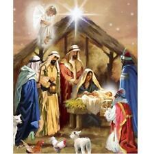 Religious Christmas Jesus Birth Nativity Digital Cotton Fabric David 35
