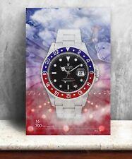 Rolex GMT-Master 16700 watch print. Bold graphic art on canvas