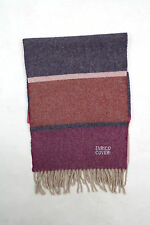 Enrico Coveri Unisex Striped WOOL Blend Pink/Purple/Blue Scarf One size Vtg 90s