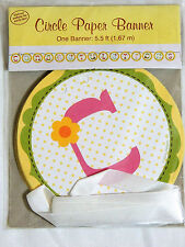 NEW ~HAPPI TREE~ BABY SHOWER CONGRATULATIONS  CIRCLE PAPER BANNER-PARTY SUPPLIES
