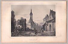 Leipzig, Sachsen - Stadt und Johanniskirche - Stich, Stahlstich J. Richter 1860