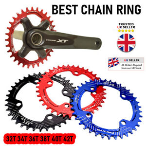 Best Bike Narrow Wide Round Chainring Ring 32 34 36 38 40 42T Single Tooth Chain