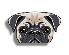 Pug Face Dog Die Cut Custom Printed Sticker Decal Car Truck Window Door Graphic