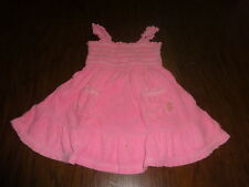 JUICY COUTURE 2 2T PINK TERRY DRESS SMOCKED