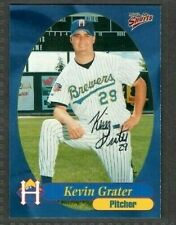 1999 Multi-Ad #17 Kevin Grater Helena Brewers Baseball Signed Autograph (B44)