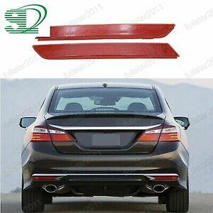 2pcs Rear bumper reflector light lamps for Honda Accord 2016-2017