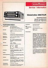 Service Manual-Anleitung für Nordmende Globetrotter Amateur